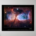 Bipolar Star Forming Region Sharpless 2-106 Nebula Poster