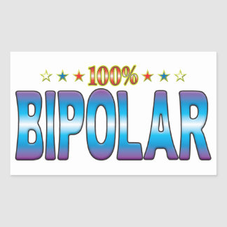 Bipolar Star Tag v2 Rectangle Sticker