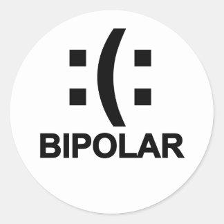 Bipolar T-Shirts.png Classic Round Sticker
