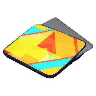 bipolar yellow laptop computer sleeve