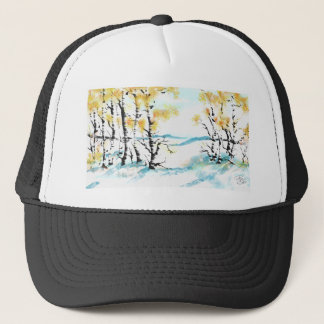 Birch and bunny trucker hat