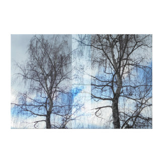 Birch. Approximation Canvas Print