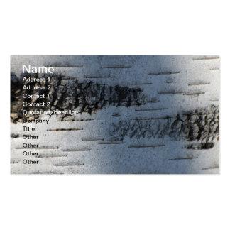 Birch bark 1291 business card