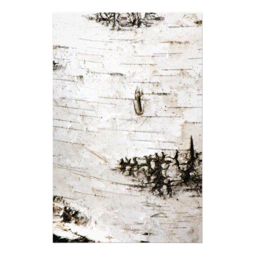 Birch bark 2330 stationery design