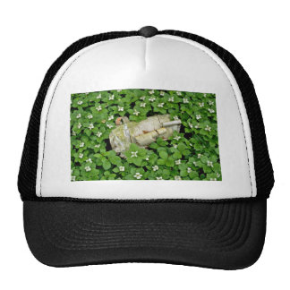 Birch bark and bunchberry flowers White flowers Hats
