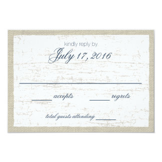 Birch Bark and Navy Blue Woodland Response Card