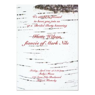 Birch bark bridal shower card
