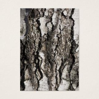 Birch bark business card