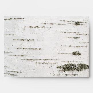 Birch bark envelope
