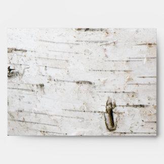 Birch bark envelopes