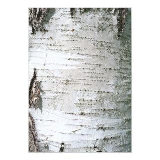 Birch bark custom invitations