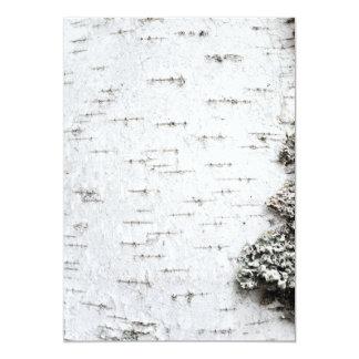 Birch bark invite