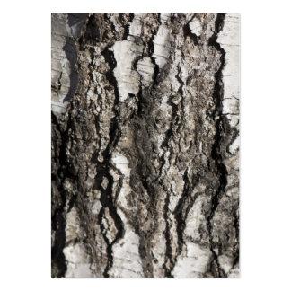 Birch bark large business card