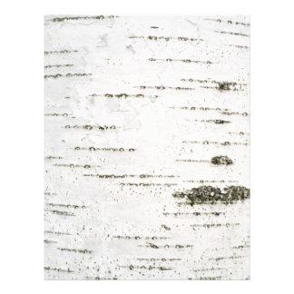 Birch bark letterhead