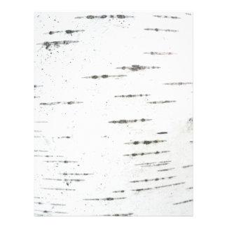 Birch bark personalized letterhead