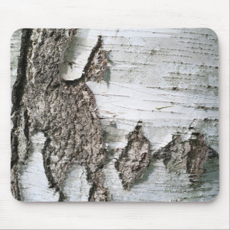Birch bark mouse pad
