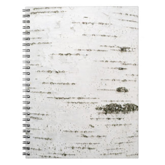 Birch bark spiral note book