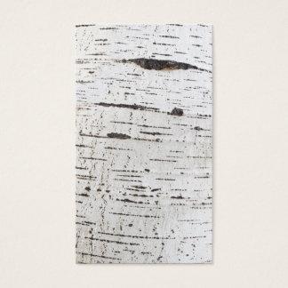 Birch bark pattern business card