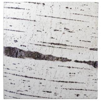Birch bark pattern cloth napkin