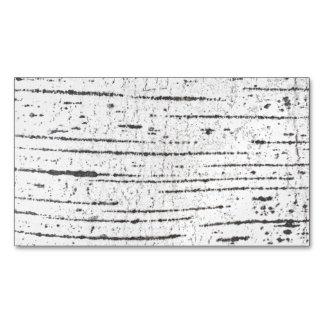 Birch bark pattern magnetic business card