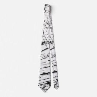 Birch bark pattern neck tie