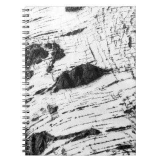 Birch bark pattern notebook