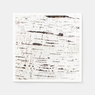 Birch bark pattern paper napkin