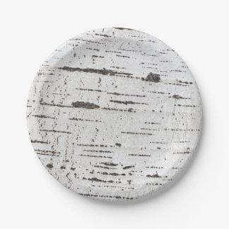 Birch bark pattern paper plate