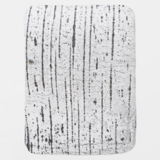 Birch bark pattern receiving blanket