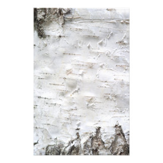 Birch bark personalized stationery