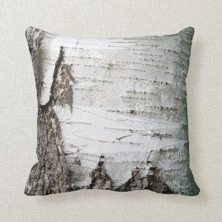 Birch bark throw pillows