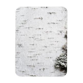 Birch bark rectangular photo magnet
