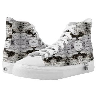 Birch Bark Repeat Design Printed Shoes