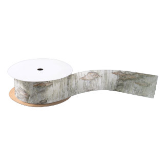 Birch Bark Rustic Satin Ribbon