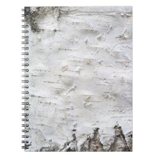 Birch bark spiral notebook
