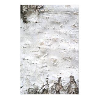 Birch bark stationery