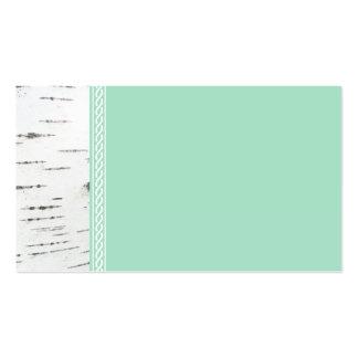 Birch bark template business card