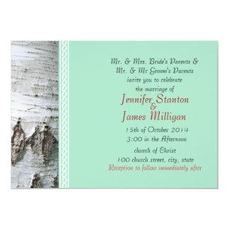 Birch bark template invite