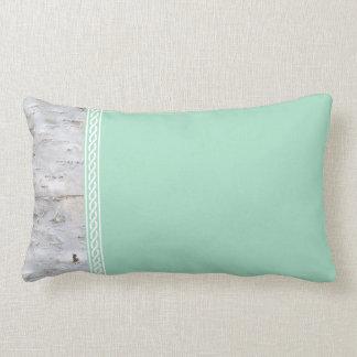 Birch bark template lumbar pillow