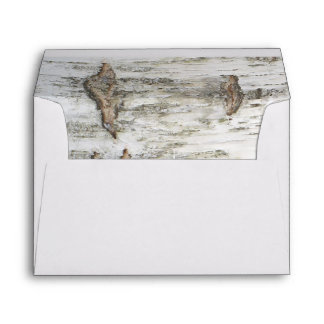 Birch Bark Texture Rustic Country Wedding Envelope