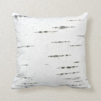 Birch bark throw pillow