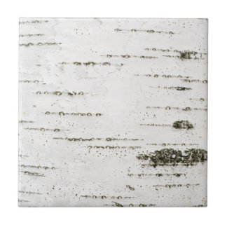 Birch bark ceramic tile