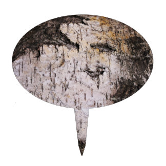 Birch Bark - wood texture nature photo Oval Cake Toppers