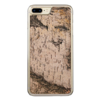 Birch Bark - wood texture nature photo Carved iPhone 7 Plus Case