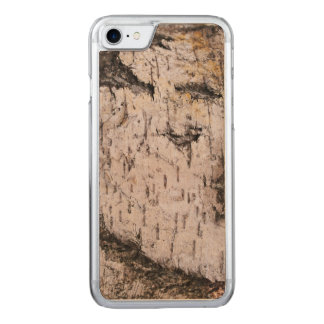 Birch Bark - wood texture nature photo Carved iPhone 8/7 Case