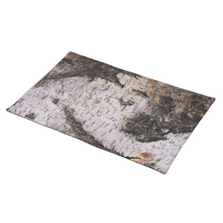 Birch Bark - wood texture nature photo Cloth Placemat