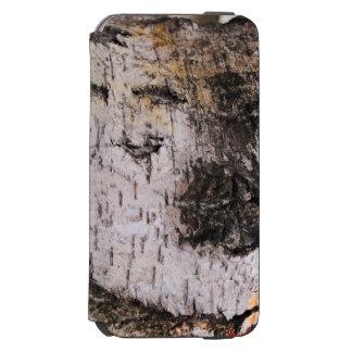 Birch Bark - wood texture nature photo iPhone 6/6s Wallet Case