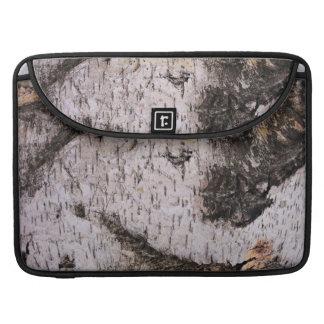 Birch Bark - wood texture nature photo Sleeve For MacBook Pro