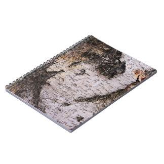Birch Bark - wood texture nature photo Spiral Notebook