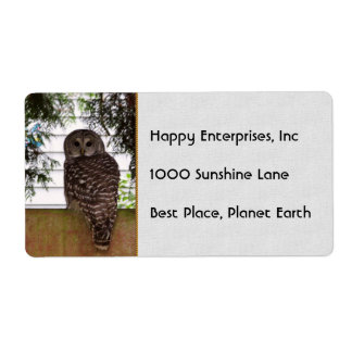Birch Bay Owl Label